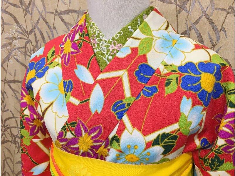 着物姿で嵐山をぶらり散策・夢京都嵐山店の着物フルセットレンタル