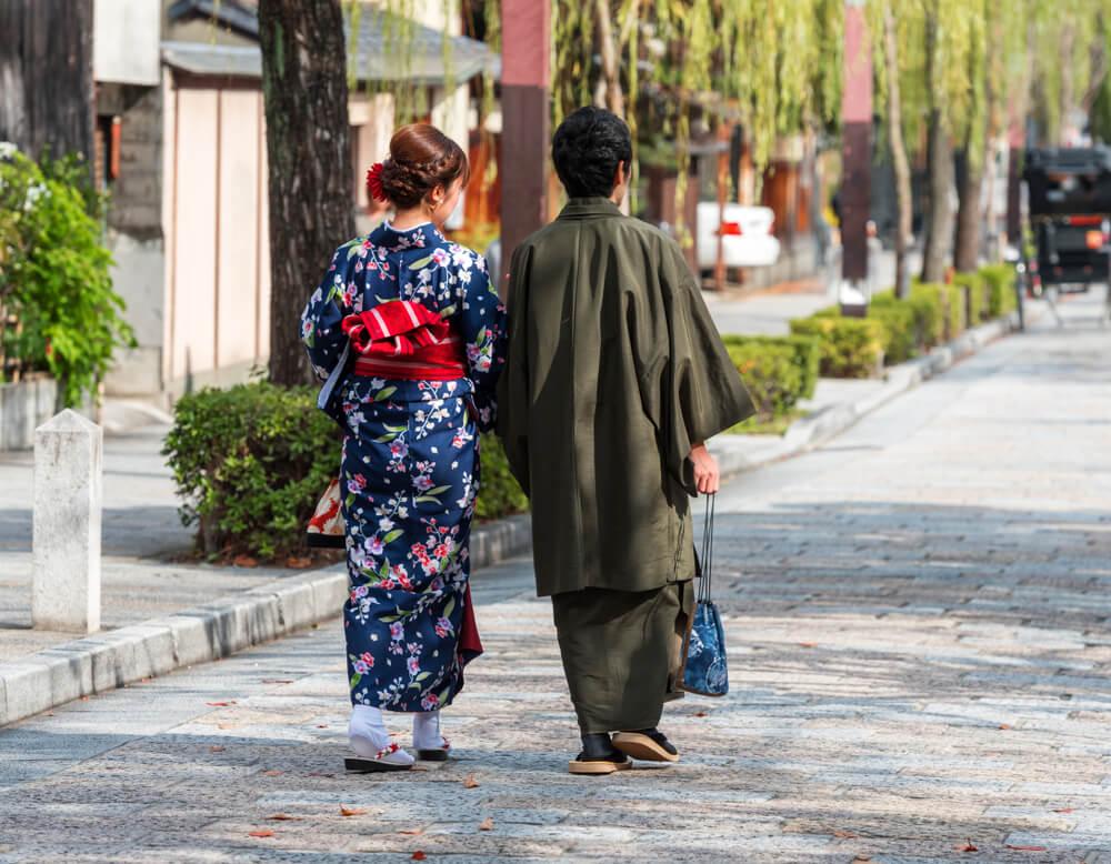 二人で古都鎌倉を着物歩き・wargoのカップルスタンダード着物プラン